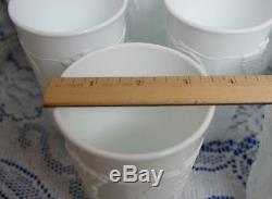 12 Vintage Milk Glass Tumblers Thick White Golden Colony Harvest Grape
