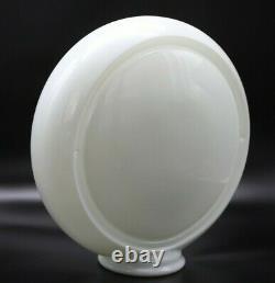13.5 Milk Glass Gas Pump Globe Body Narrow 4 3/4 Wide