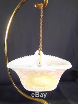 1870-80's White Milk Glass Opaline Chicken & Rabbit Figural Hanging Matchholder
