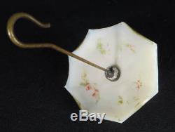 1880's White Milk Glass Opaline Umbrella Figural Hanging Matchholder