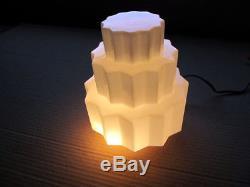 1930s ART DECO MILK GLASS PENDANT SKYSCRAPER CEILING LIGHTS
