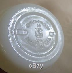 1965 ANCHOR HOCKING SNOOPY CURSE YOU RED BARON MUG milk glass coffee cup