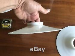 2 Antique White Milk Glass Disc Shades Steampunk OC White 10
