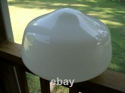 2 -LARGE Art Deco Opaque White Milk Glass Ceiling Schoolhouse Light Shade Globe