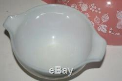 3 Pyrex Pink Gooseberry 444 443 441 Cinderella Mixing Nesting Bowls EXCELLENT