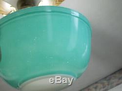 4 Vintage Pyrex Pink Aqua Turquoise White Mixing Bowls