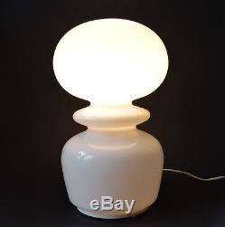 9 PIECES VTG CZECH MODERNISM 1960's table lamp, Milk Glass Shade Great Design