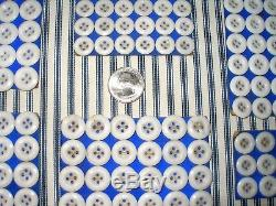 913 Antique FRENCH Milk Glass Buttons, Original Cards, 4 Sizes, Victorian