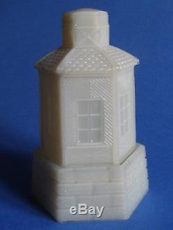 ANTIQUE RARE night light VALLERYSTHAL PORTIEUX FRENCH OPALINE MILK GLASS