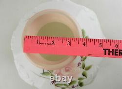Alladin Original 201-6 Bullseye 10 Oil Lamp Shade Pink/White Rose&Vine T144