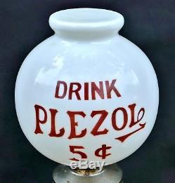 Antique Drink PLEZOL 5 Drugstore MILKGLASS Countertop COLA Soda Syrup Dispenser