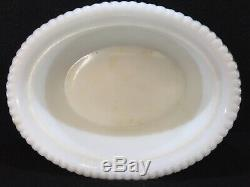Antique Greentown Glass Milk Glass Hen Covered Dish Rare Mint Condition