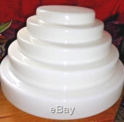 Antique Lg. White Milk Glass Art Deco Honycomb Shape CEILING Light Shade. Stunning