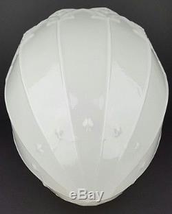 Antique Milk Glass Art Deco Pendant Ceiling Fixture Light Shade 5.75 Fitter Lip