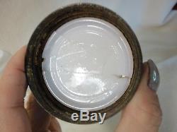 Antique Milkglass Owl Mustard Jar With Eagle LID
