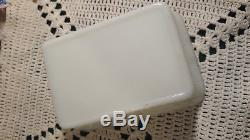 Antique Opaque Milk Glass Pekinese Covered Candy Dish