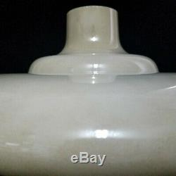 Antique Vintage 15 1/4 Cream Off White Milk Glass Torchiere Floor Lamp Shade