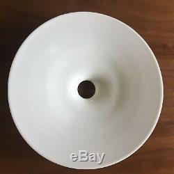 Antique White Milk glass Disc Shade OC White Steampunk Edison