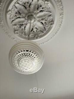 Art Deco 1930's White Empire Diana Milk Glass Light Shade & Original Gallery