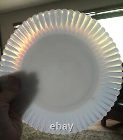 COREX Pyrex Opalescent Milk Glass 8 Plates Dishes RARE 19 Piece Set C212000