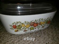 Corning Ware Spice of Life A-84-B 4 QT Dutch Oven Casserole withGlass Lid (A-12-C)