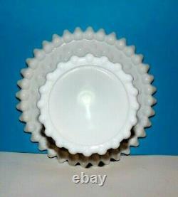 DUNCAN & MILLER Milk Glass Old'Giant' Hobnail RARE Cake Pedestal Stand 11 ½