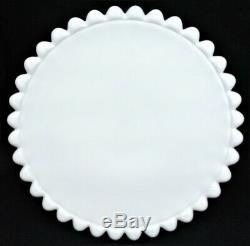 Duncan and Miller Milk Glass Old Giant Hobnail Cake Plate Pedestal Stand 11 ½