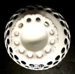 Elegant Pierced Reticulated Westmoreland Pedestal Milk Glass Compote Cake Stand