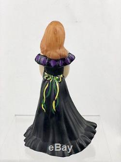 Fenton Art Glass Hand Painted Milk Glass 2/7 Mardi Gras Bridesmaid Doll -2007