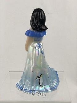 Fenton Art Glass Hand Painted Milk Glass OOAK Winter Fun Bridesmaid Doll
