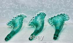 Fenton, Epergne, Robin's Egg Blue Glass, Connoisseur Collection 2011, Limited