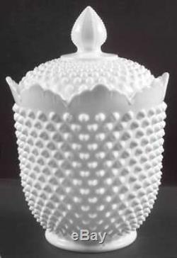 Fenton HOBNAIL MILK GLASS Cookie Jar 3975779