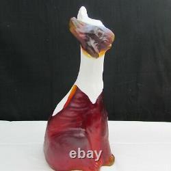 Fenton Ruby Red with Milk Glass Head FFOGK Slag Alley Cat 2010 W396