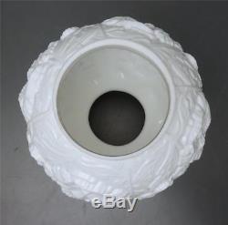Fenton White Poppy Hurricane Lamp Globe Shade REPLACEMENT Milk Glass