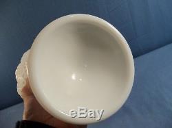 HTF Fenton #3986 White Milk Glass Hobnail Covered Urn