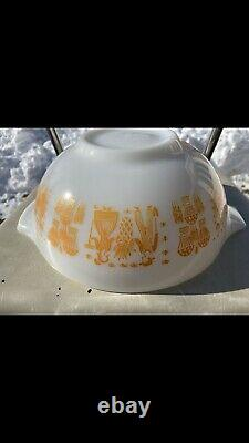 HTF Vintage Pyrex Orange Amish Butterprint Cinderella Excellent Condition #443