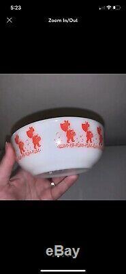 Htf Vintage Pyrex 708 Bowl Little Drummer Boy Lamb Rum Pa Pum Pum Christmas Euc