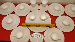 Indiana Colony White Grape Harvest Milk Glass 34 Piece Dish and Cup Set