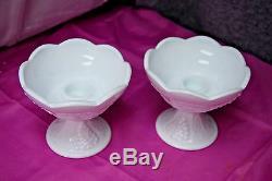 Indiana Glass Harvest Grape Milk Glass 24 Pc. Set Pitchers Cups Plates L2575