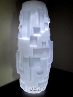 LARGE Czech / Bohemian ART DECO MILK SATIN GLASS LAMP SHADE 1920's