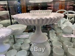 Large Fenton Milk Glass Comport