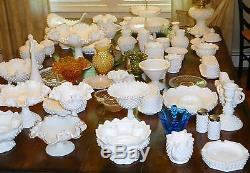 Large wholesale Lot of Fenton Milk Glass