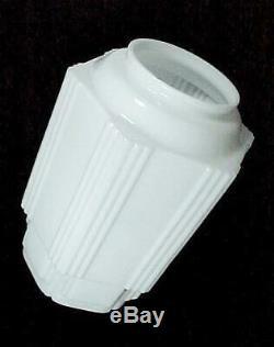 Light Shade Milk Glass 6 X 16 1/2 Art Deco Skyscraper Ceiling Fan Pendant