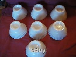 Lot 16 Vtg MacBeth-Evans Petalware Monax White Milk Glass Depression Plate Bowl