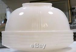 Lot/3 Vtg Antique Schoolhouse Ceiling Light Fixture 14 Globe White Milkglass
