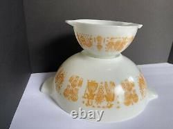 MINT! Vintage Pyrex Pumpkin Orange Amish Butterprint #444 Cinderella Bowl 4 QT