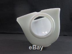 Matching Vintage Bathroom/Wall Sconces Porcelain Bases Milk Glass Shades