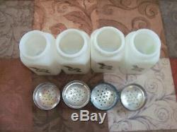 McKee OPEN BADGE Milk Glass Range Shakers