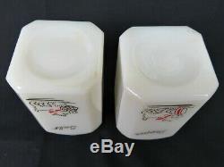 McKee Tipp City Scotty Westie Dog Large Salt Pepper Range Shakers Milk Glass