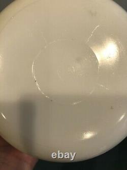 McKee White Milk Glass Red Ships Sailboats 3 Piece Kitchen Canister Jar Set RARE